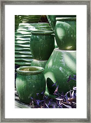 Green Grouping 2 Framed Print by Teresa Mucha