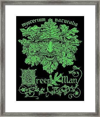 Green Man Framed Print by Fremont Thompson