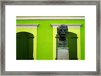 Green Framed Print by Mauricio Jimenez