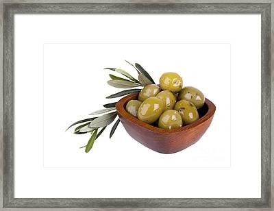 Green Olives Framed Print by Jane Rix