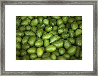 Green Olives Framed Print by Joana Kruse