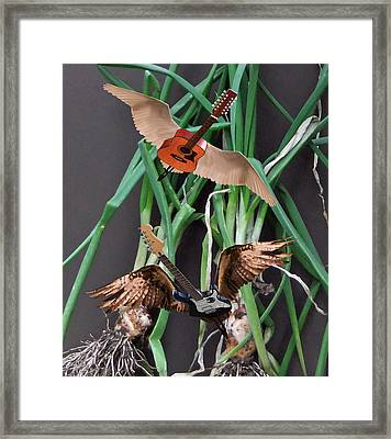 Green Onions Framed Print by Eric Kempson
