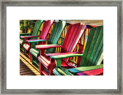 Green Red Green Red Green Chair Framed Print by Michael Thomas