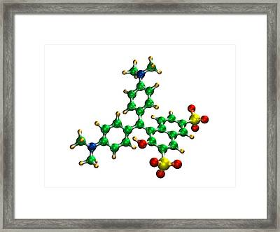 Green S Food Colouring Molecule Framed Print by Dr Mark J. Winter