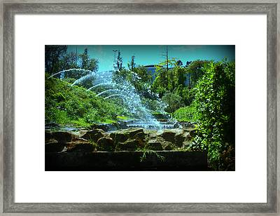 Green Scenery Framed Print by Kevin Flynn