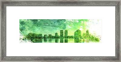 Green Skyline Framed Print by Andrea Barbieri