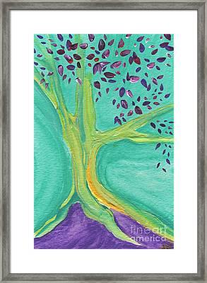 Green Tree Framed Print by First Star Art
