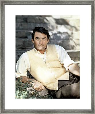 Gregory Peck, Ca. Late 1950s Framed Print by Everett