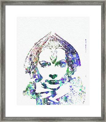 Greta Garbo Framed Print by Naxart Studio