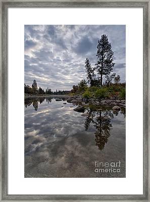 Grey Skies Framed Print by Beve Brown-Clark Photography