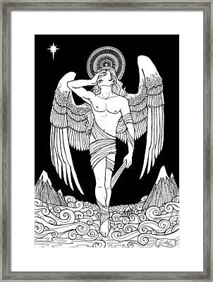 Grieving Angel Framed Print by Caroline Jamhour
