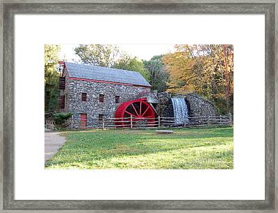Grist Mill At Wayside Inn Framed Print by John Small