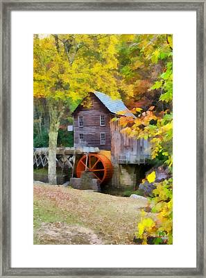 Grist Mill Framed Print by Lynne Jenkins
