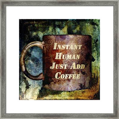 Gritty Instant Human Framed Print by Angelina Vick