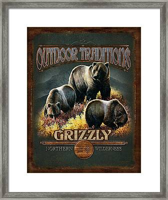 Grizzly Traditions Framed Print by JQ Licensing