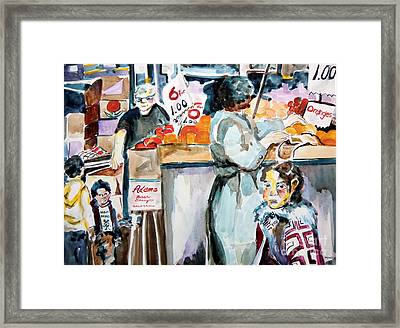 Grocery Shopping Framed Print by Mindy Newman