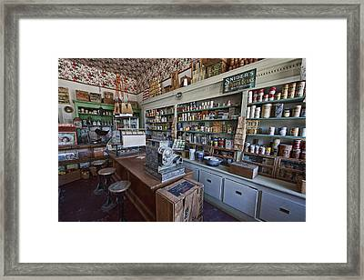 Grocery Store Of Yesteryear - Virginia City Montana Ghost Town Framed Print by Daniel Hagerman