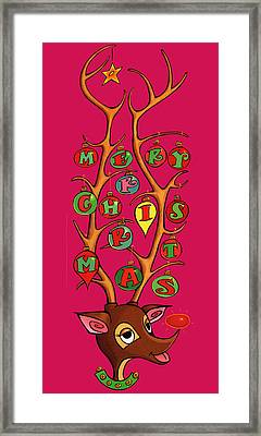 Groovy Rudolph Framed Print by Steven Stines