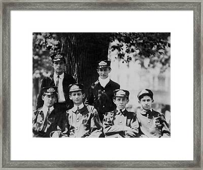 Group Of Messengers In Union Square Framed Print by Everett
