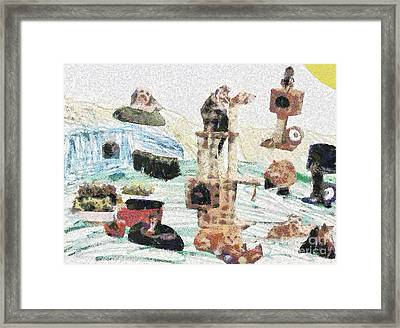Group Of Pets Framed Print by Odon Czintos