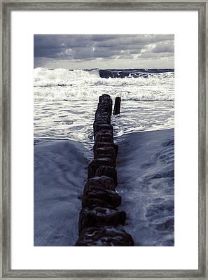 Groyne Framed Print by Joana Kruse