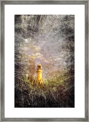 Grunge Light House Framed Print by Svetlana Sewell