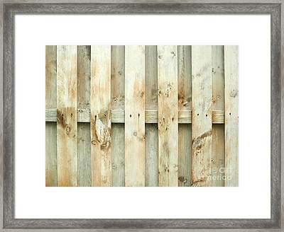 Grungy Old Fence Background Framed Print by Blink Images