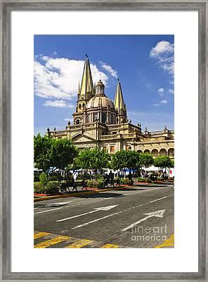 Guadalajara Cathedral Framed Print by Elena Elisseeva