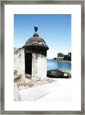 Guard Post Castillo San Felipe Del Morro San Juan Puerto Rico Diffuse Glow Framed Print by Shawn O'Brien
