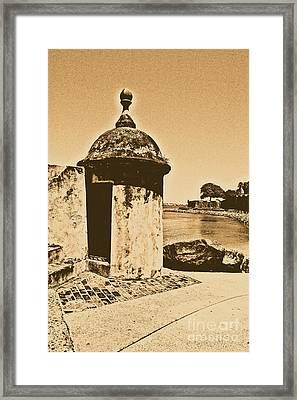 Guard Post Castillo San Felipe Del Morro San Juan Puerto Rico Rustic Framed Print by Shawn O'Brien