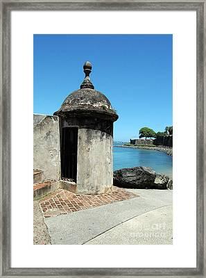 Guard Post Castillo San Felipe Del Morro San Juan Puerto Rico Framed Print by Shawn O'Brien