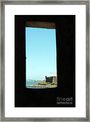 Guard Tower View Castillo San Felipe Del Morro San Juan Puerto Rico Framed Print by Shawn O'Brien