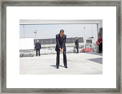 Guarded By The Secret Service President Framed Print by Everett