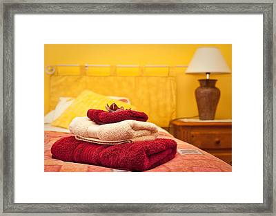 Guest Room Framed Print by Tom Gowanlock