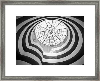Guggenheim Museum Bw200 Framed Print by Scott Kelley