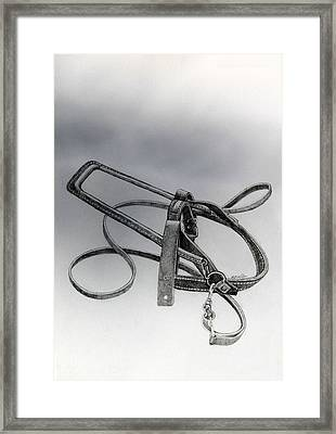 Guide Dog Harness Framed Print by Hanne Lore Koehler