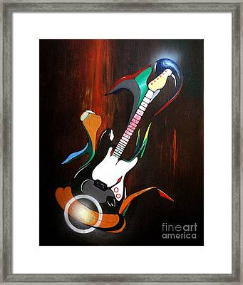 Guitar Melody Framed Print by Peter Maricq