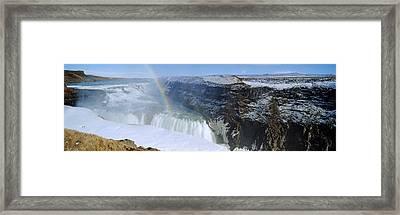 Gullfoss Falls Framed Print by Chris Madeley