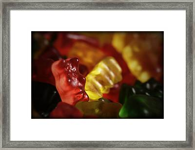 Gummi Bears Framed Print by Rick Berk