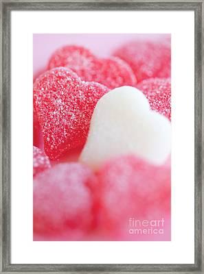 Gummi Heart Framed Print by Kim Fearheiley