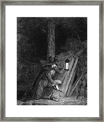 Guy Fawkes, English Soldier Convicted Framed Print by Photo Researchers