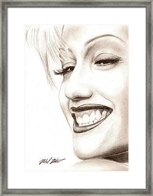 Gwen Stefani Framed Print by Michael Mestas