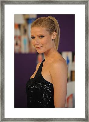 Gwyneth Paltrow At Arrivals For The Framed Print by Everett