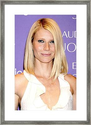 Gwyneth Paltrow In Attendance For Debut Framed Print by Everett