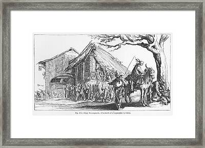 Gypsy Camp, 17th Century Framed Print by Granger