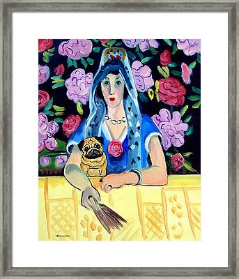 Gypsy Pug Framed Print by Lyn Cook