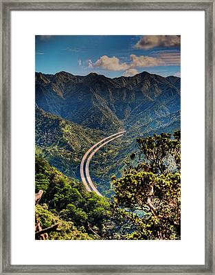 H-3 From The Aiea Loop Trail Framed Print by Dan McManus