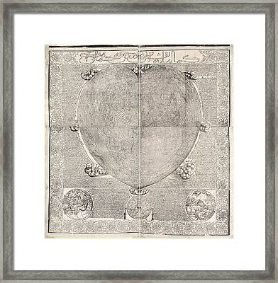 Haci Ahmed's World Map, 1560 Framed Print by Library Of Congress, Geography And Map Division