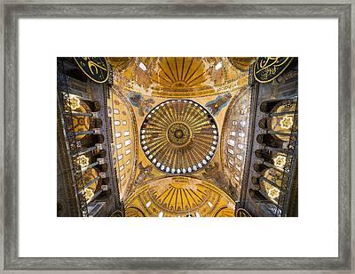 Hagia Sophia Ceiling Framed Print by Artur Bogacki