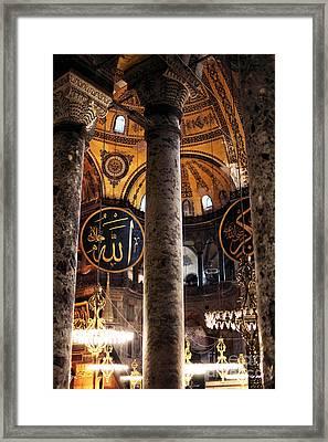 Hagia Sophia Lights Framed Print by John Rizzuto